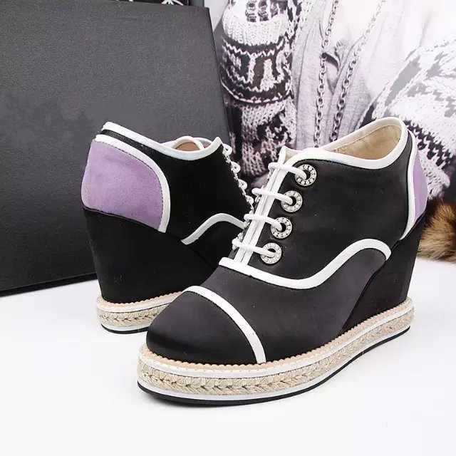2016 Top selling brand designer wedge espadrilles pointed toe lace up patchwork shoes woman lower price free shipping(China (Mainland))