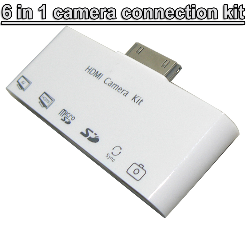 6 1 HDMI Dock Adapter TV AV USB Cable Camera Connection Kit adapter Apple iphone 4 4s iPad 2 3 - USBONLINEDIRECT Communication Co., Ltd. store