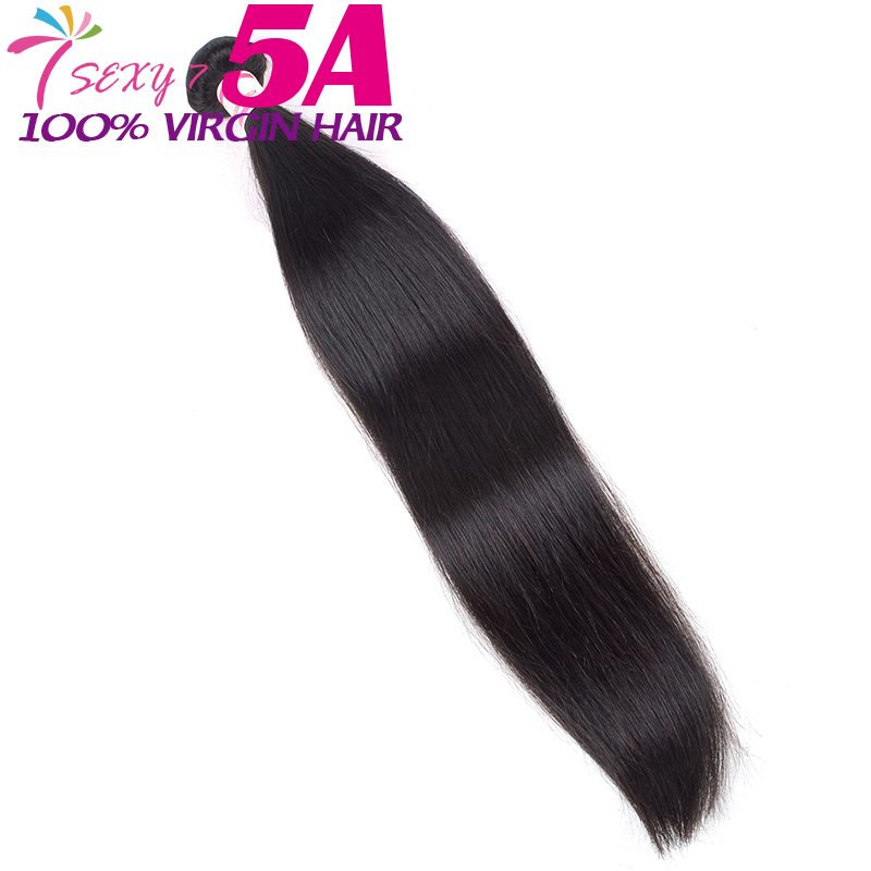 2016 Top Grade full cuticle virgin brazilian hair straight unprocessed 1 pc human hair weave brazilian straight hair(China (Mainland))