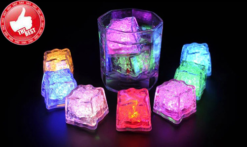 Гаджет  2015 Wholesale Luminary Lamps Wedding Ice Cubes LED Glow Novelty Party Sparkling Lights Ice Cubes multicolor in water light None Свет и освещение