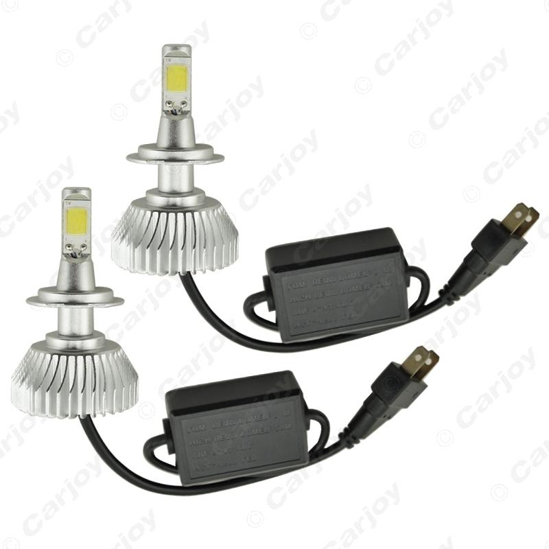 2pcs Super Bright H7 6000K White 60W 6400LM Car COB LED Headlight Kit Fog Lamp Bulbs Xenon Light #CA2402