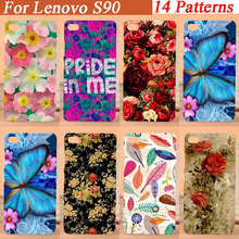 14 patterns painting beautiful flowers Case Cute Colored Drawing Hard Plastic case cover For Lenovo S90 Cell Phone Cover