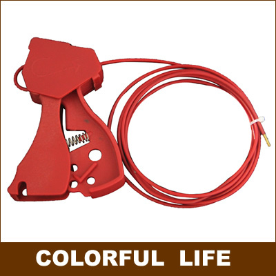 Grip Type Universal Cable Locks , gate valve Lock/ Diameter (3mm) Safety Cable System Lockouts,Industrial safety locks(China (Mainland))