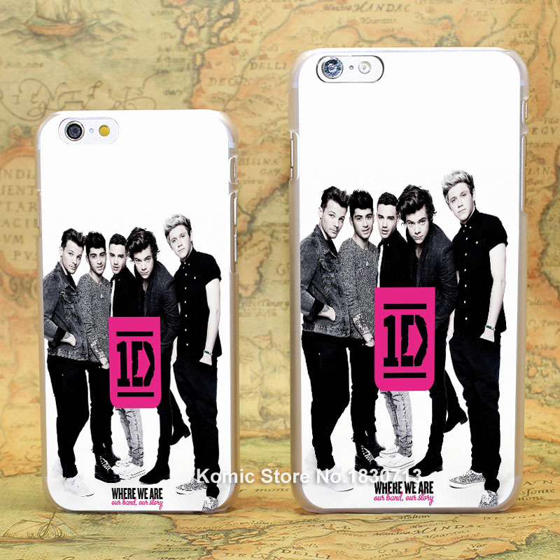 Music Band One Direction Pattern hard transparent clear Cover Case for iPhone 4 4s 5 5s 5c 6 6s 6 Plus(China (Mainland))