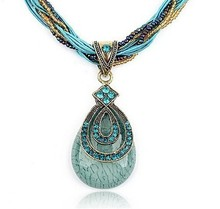 (Min order$10) Free Shipping!Pure Handmade Bohemia Style Retro Cardamom Drop Necklace!#ftbbay_10112901