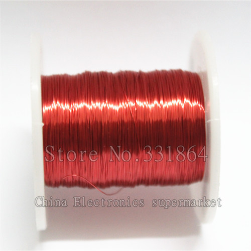100m Red Magnet Wire 0.2mm Enameled Copper wire Magnetic Coil Winding(China (Mainland))
