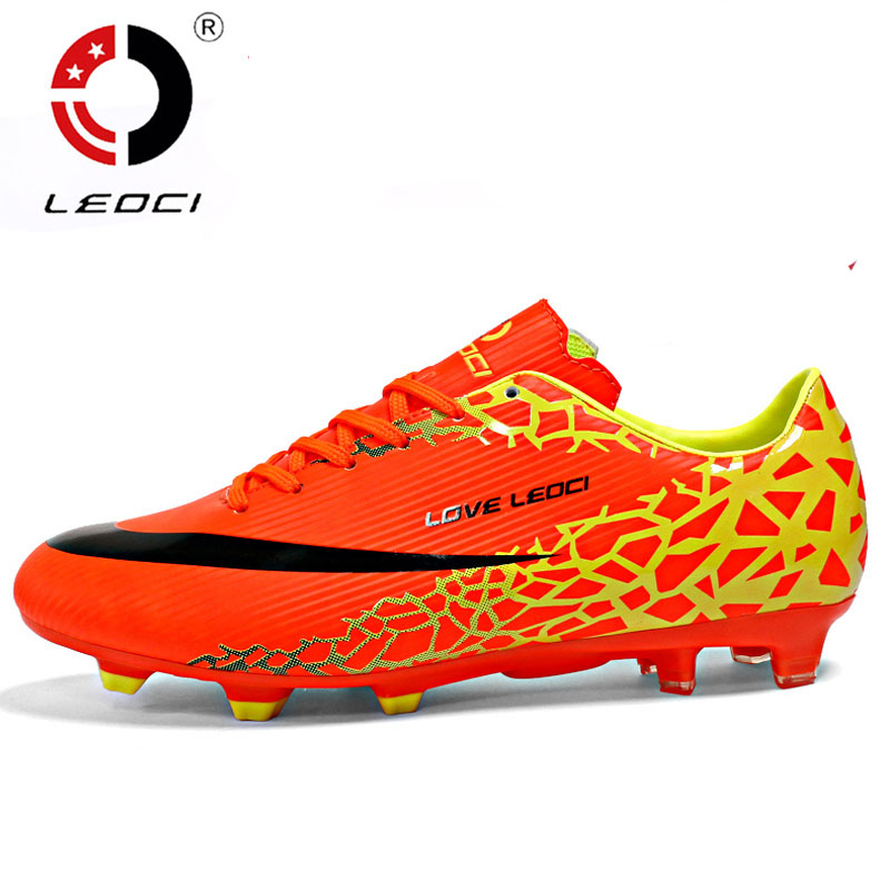 Size US4-7.5 Men Boy Kids Soccer Cleats Turf Football Soccer Shoes TF Hard Court Sneakers Trainers New Design football boots(China (Mainland))