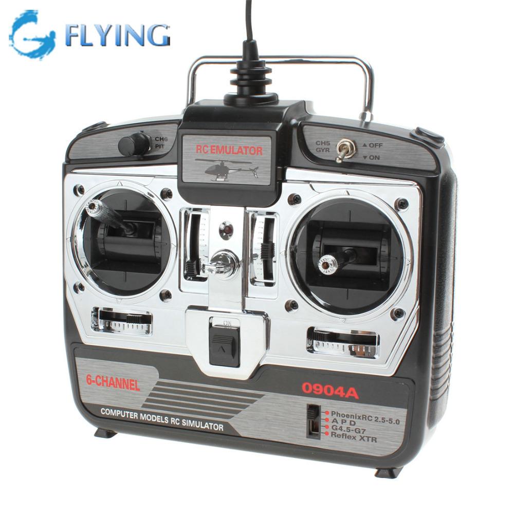 JTL-0904A Computer Model XTR RC 6CH USB Flight Training Simulator Equipment Airplanes Helicopter Remote Control Simulator(China (Mainland))