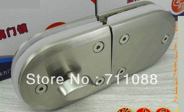 Free shipping 2013 LT factory direct sell Strong double door glass bathroom glass door lock latch lock 602,without key(China (Mainland))