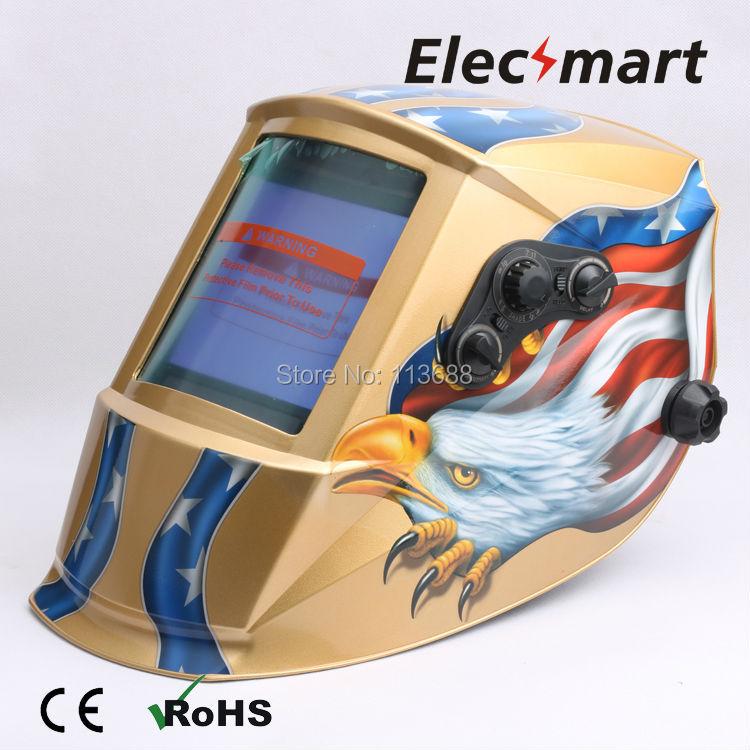 Big View Area Auto darkening welding helmet TIG MIG MMA electric welding mask/helmet/welder cap/lens for welding(China (Mainland))