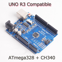 Free Shippping UNO R3 MEGA328P for Arduino UNO R3 NO USB CABLE High quality
