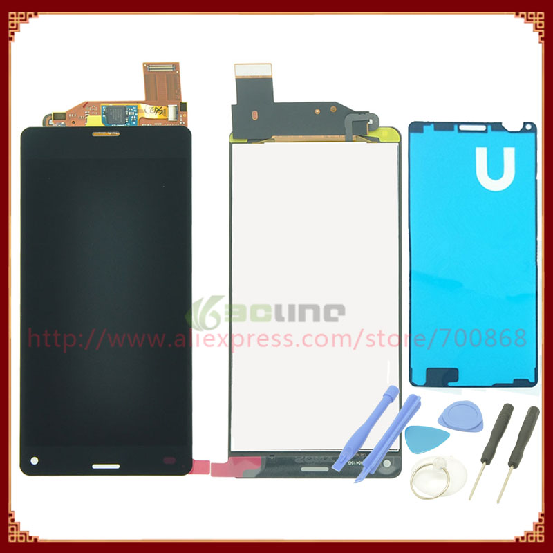 100% Original LCD Display + Touch Screen Digitizer Assembly For Sony For Xperia Z3 Compact Z3 Mini Black/White + Tools