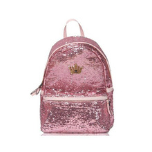 4 Colors High Quality Leather Women's Sequin Backpack Girl Schoolbag Tote Bag  Women Travel Bags Student Bag Wholesale