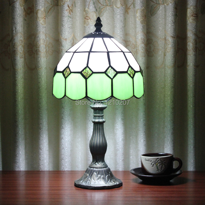 8 inch tiffany table lamp with stained glass for desk lamp for 10 inch table lamp