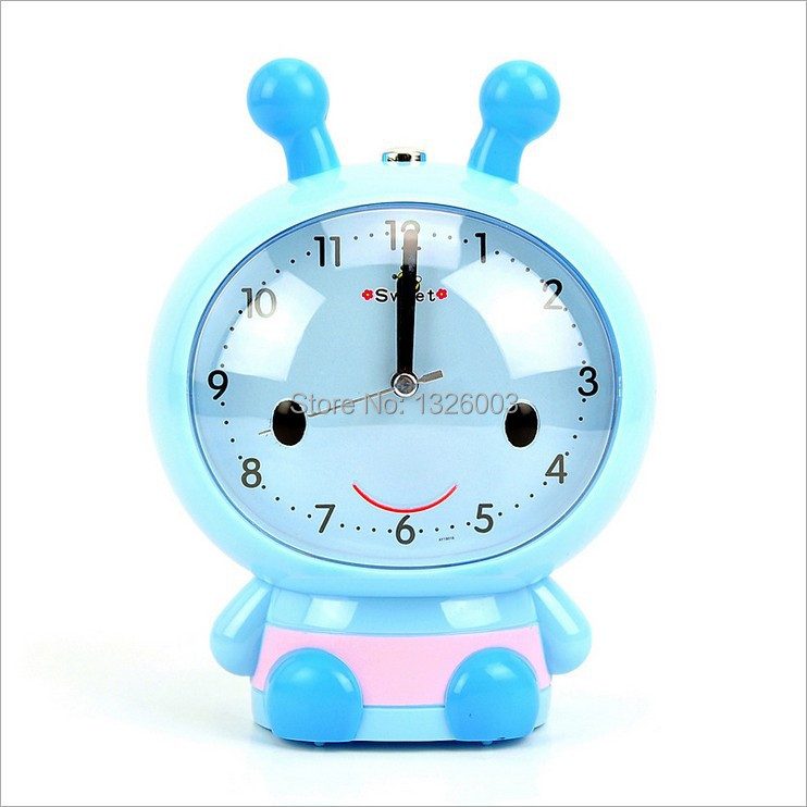LUMINOVA Cartoon Digital Alarm Clocks Cute Needle Summer Indoor Home Garden Voice Quiet Backlight Robot Electronic Alarm Clock(China (Mainland))