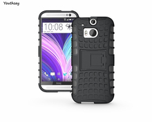 For HTC One M8 Case Silicone Hard Cover Heavy Duty Armor Shockproof Hybrid Rugged Rubber Phone Cases for HTC M8 ONE 2(China (Mainland))
