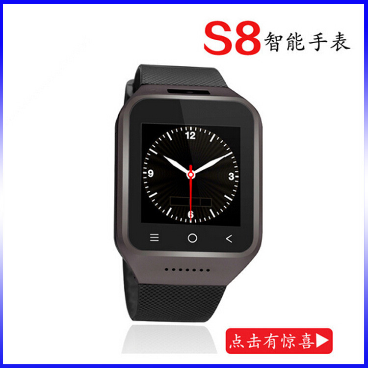 The new 3G smart watch can be inserted SIM cassette cameras multifunction smart wearable Bluetooth cell phone watch(China (Mainland))