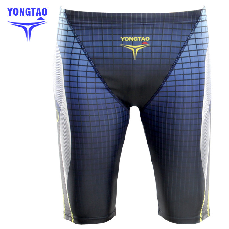 Free shipping mens long printed swim trunk,swimming shorts for men swimwear briefs,surf pants boardshorts swimsuit,natacion YT19(China (Mainland))