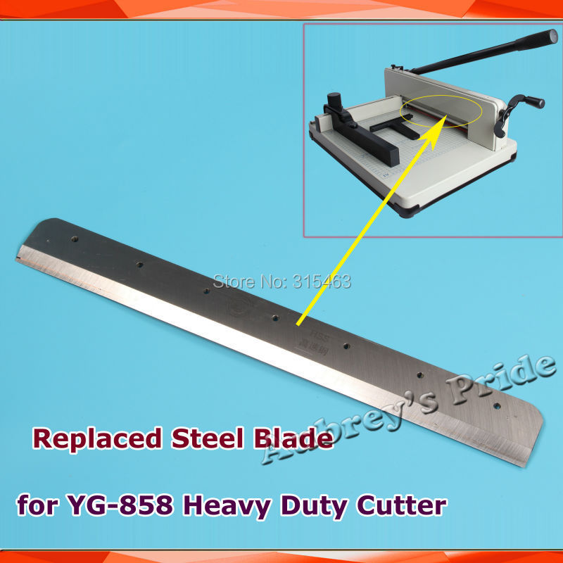 Free Shipping YG-858 A4 Size Replaced Steel Blade for Heavy Duty Stack Paper Ream Guillotine Cutter(China (Mainland))