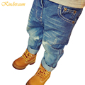 Kindstraum 2017 Baby Jeans Girls Boys Fashion Ripped Jeans 2 color Washed Casual Trousers Children Kids
