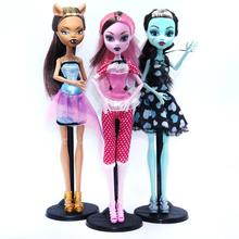 NO BOX 3 pcs/set Dolls Draculaura/Clawdeen Wolf/ Frankie Stein Moveable Joint Body High Quality Girls Plastic Classic Toys(China (Mainland))
