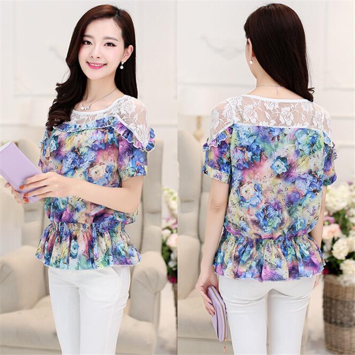Женские блузки и Рубашки 2015 blusas blusa женские блузки и рубашки romantic beach blusa femininas2015 sh022