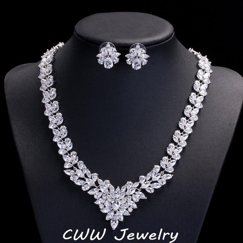 Bridal Diamond Necklace And Haram Set: Aliexpress.com : Buy High Quality CZ Diamond Wedding