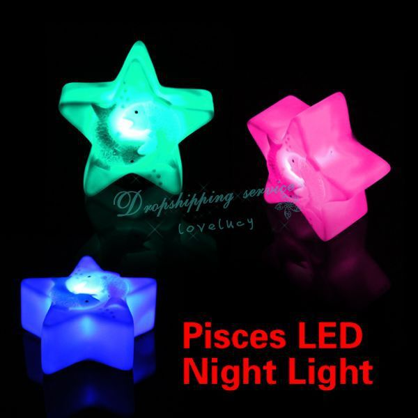 Changing Colors Colorful Pisces Night Sleep Light Magic