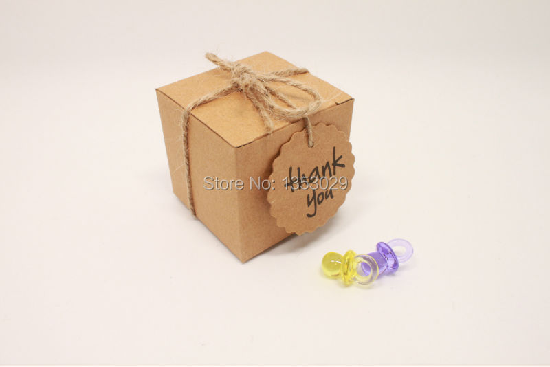 Kraft Paper Wedding Candy Box Vintage Wedding Decoration Rustic Wedding Centerpieces Event Party Supplies Baby Shower (18)