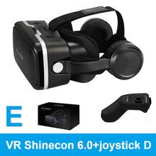 100% Оригинальные VR shinecon 6.0 виртуальной реальности очки 120 FOV 3D очки Google cardboard с гарнитурой Стерео Box для смартфонов(China)