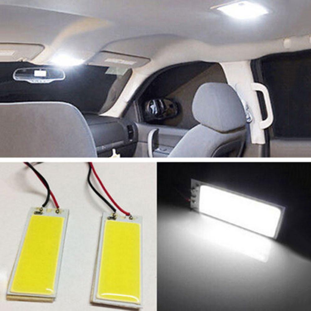 Car-styling 2pcs Xenon HID White 36 COB LED Dome Map Light Bulb Car Interior Panel Lamp 12V 5500K -6000K Free Shipping&Wholesale(China (Mainland))