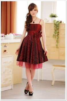 Free Shipping! New Dress Cocktail Dress Casual Dress Red Bow Wholesale And Retail