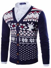 2015 New Designers High Quality Brands New Winter Korean Men Long-Sleeved Priteen Man Sweater Mens Cardigans M~XXL16M68(China (Mainland))