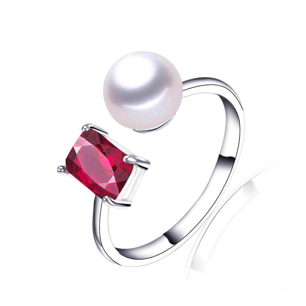 100 genuine freshwater pearl ring with high
