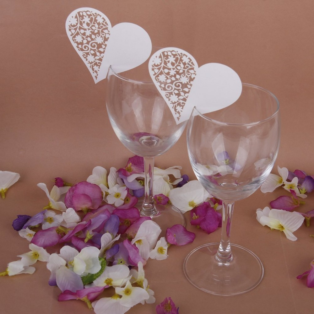 Wedding table decoration floral wine glass koop goedkope wedding ...