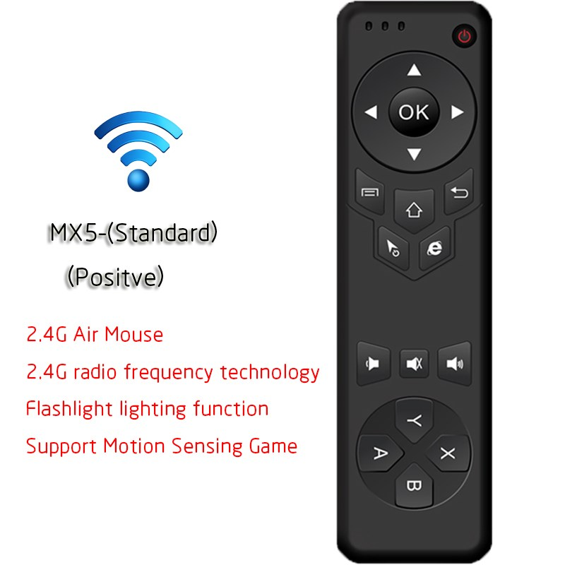 MX5 2.4G Wireless Remote Control Air Mouse Wireless Remote Controller With Receiver Adapter For Smart TV Android TV Box PC(China (Mainland))