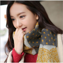 ladies scarves 2016 new fashion dot lace designer scarfs high quality Imitation cashmere scarf for women soft shawls and scarves(China (Mainland))