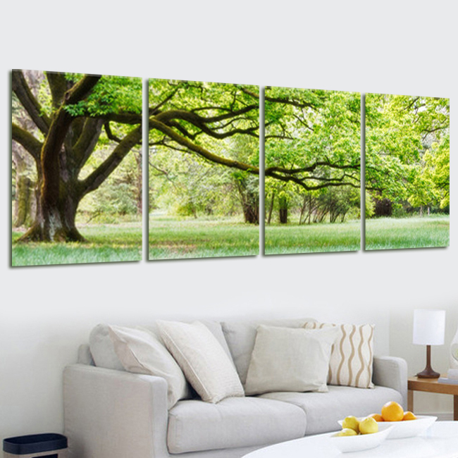 modern printed multi combination tree painting picture cuadros landscape canvas art wall decor. Black Bedroom Furniture Sets. Home Design Ideas