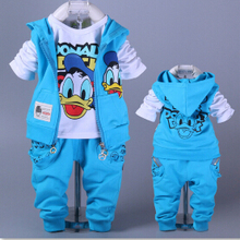 1pcs 2-6Yrs Boys&Girls Cotton Spring sport suit Kids Mickey Minnie Clothing set Kids fashion clothes baby boys&Girls cartoon set(China (Mainland))