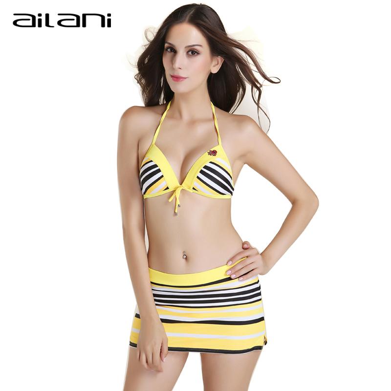 3 PCS Bikinis Set Women 2016 Fashion Sexy Women Strappy Halter Swimwear Top Summer Female Striped Beachwear Bikini AL193(China (Mainland))