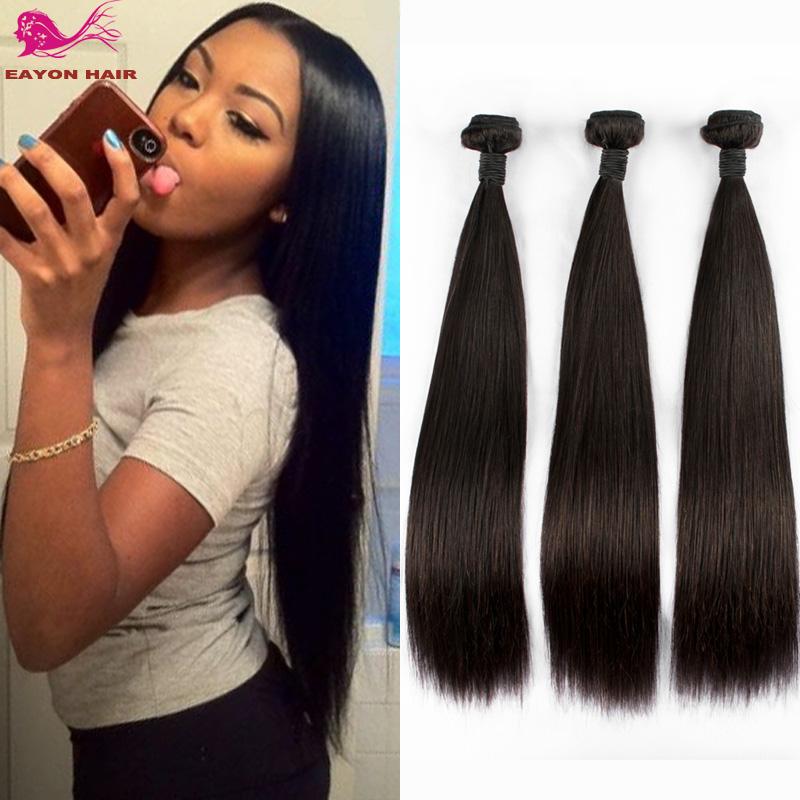 Hair Brazilian Virgin Hair Straight 3pcs Lot Brazilian Hair Weave ...