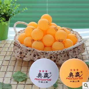 Free Shipping Hot 100pcs/lot Big Nice Big 40mm 3 Stars Best Table Tennis Balls Ping Pong Balls Ping-Pong Big Balls(China (Mainland))