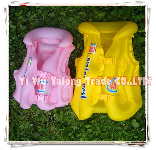 2pcs/lot high quality  adjustable inflatable swimming vest (children) swimming life jacket &free shipping&swimmng toys
