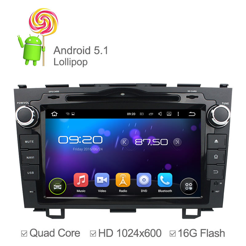 Quad Core 1024*600 Android 5.1 Car DVD Player For Honda CRV 2006 2007-2011 with GPS Navigation Radio Built-in WiFi Support OBD(China (Mainland))