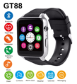 GT88 Bluetooth Smart Watch Waterproof Heart Rate Sleep Monitor Support TF SIM Card Smartwatch for iPhone