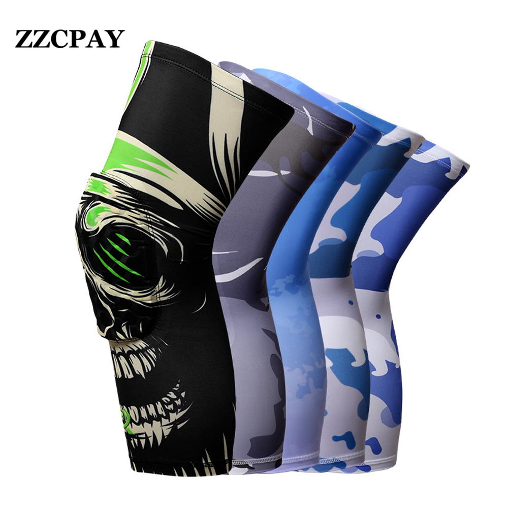 1 PCS New Brand ZZCPAY Support Sports Running Kneepads Basketball Football Knee Pads Training Knee Protector Knee Volleyball Pad(China (Mainland))