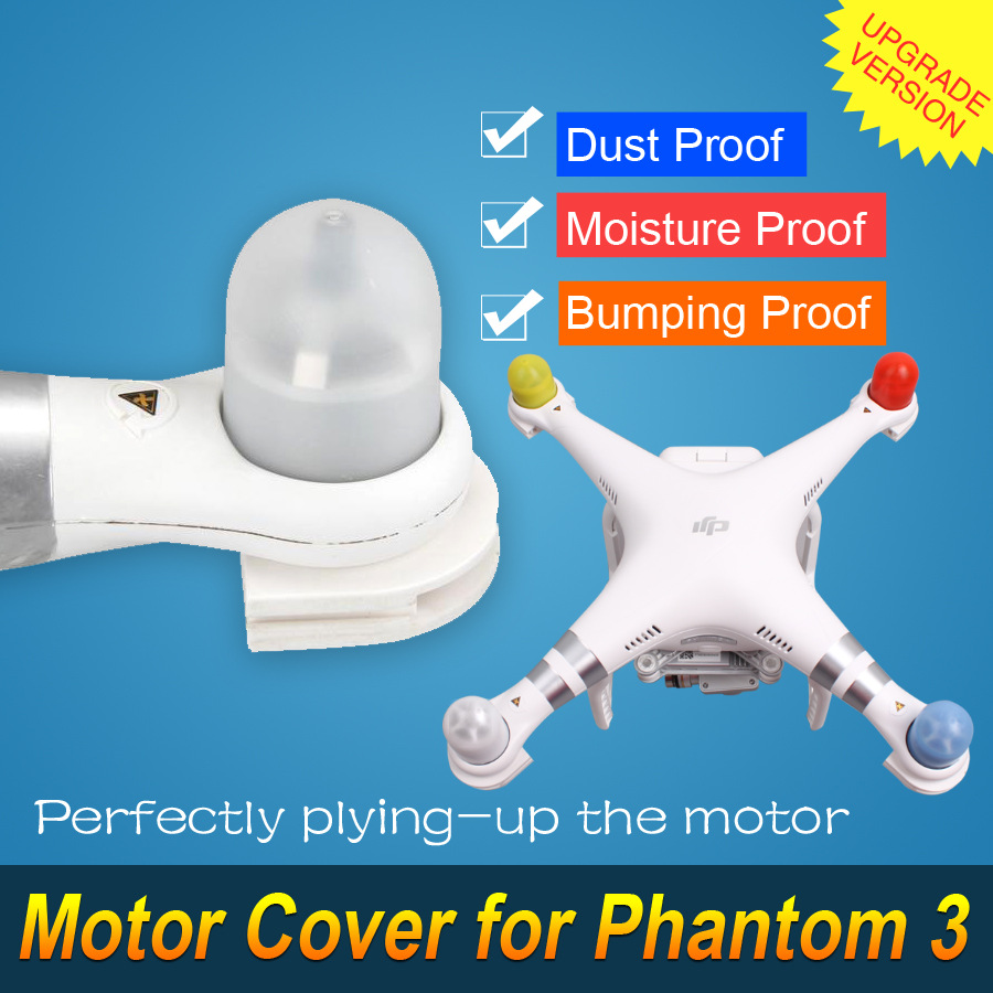 Free Shipping Transparent Motor Cover for DIJ Phantom 3 Rc Quadcopter Drone 4 color available