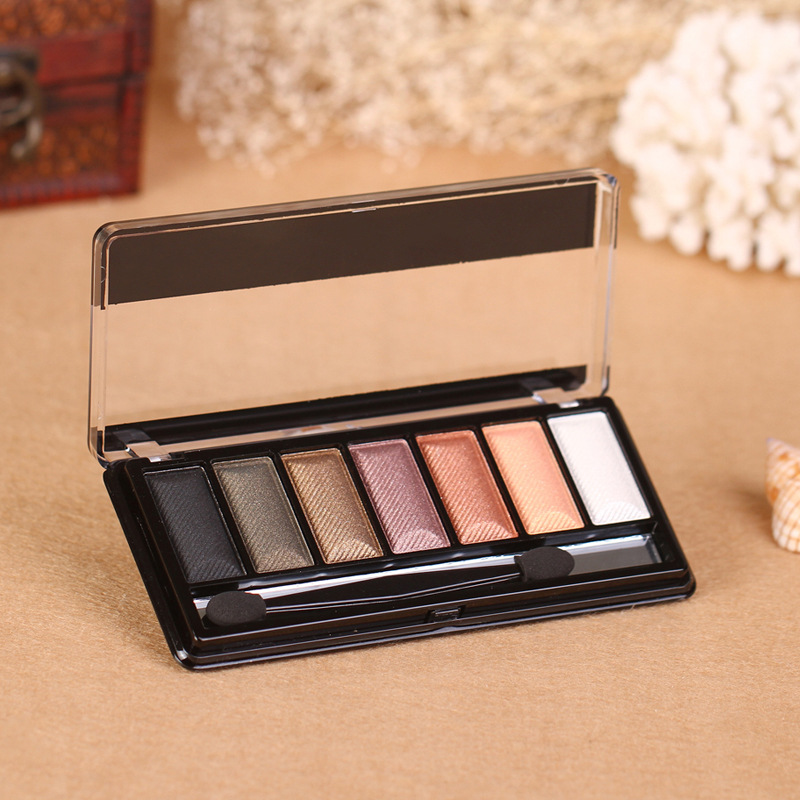 Wholesale cosmetics eyeshadow color smooth seven-day portable and easy on makeup eyeshadow long-lasting quality suppliers(China (Mainland))