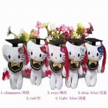 "14CM(5.5"")  Plush Sitting Graduation KT Stuffed Animals  -Diploma Graduation Gift For Students(China (Mainland))"