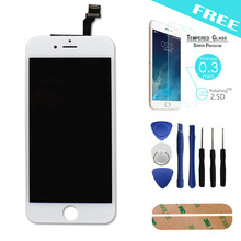 White/ For iPhone 6 plus Original LCD display+Touch Screen Digitizer Assembly Replacement for iPhone6 plus + free tempered glass